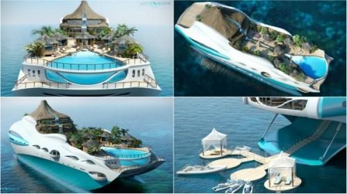 yacht-tropical-island